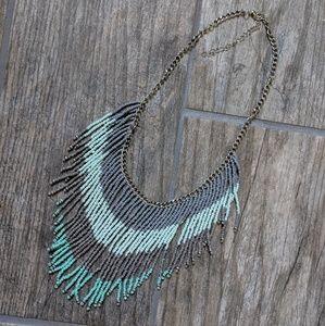 Beautiful Beaded Fringe Necklace